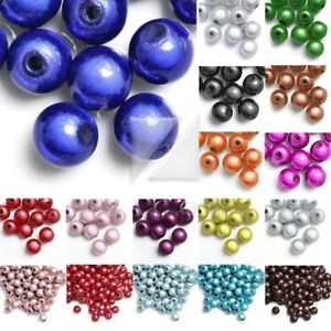 Various Sizes Purple Miracle Round Glass Beads