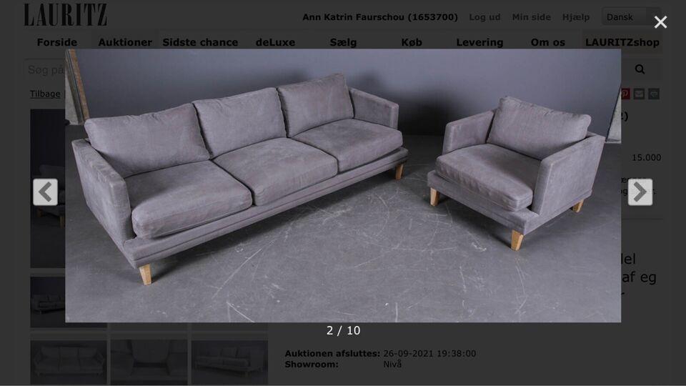 Ny pris: 24.997kr Sofa + lænestol. 1,5 år gammel