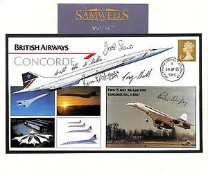 MS1667-2005-GB-UNIQUE-CONCORDE-Cover-LAST-FLIGHT-Signed-5-Pilots-No-1-1-RARE