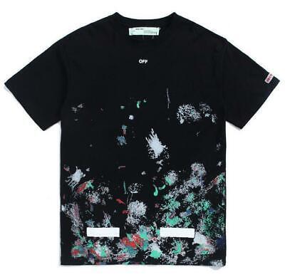 2019 Neuer Stil Unisex Off White Fireworks Starry Sky Hip-hop Sports Lover Oversize T-shirt S-xl