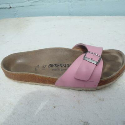 Birkenstock Sandals Size UK 4 Eur 37 Womens Buckle Pink Madrid Cork Sandals | eBay