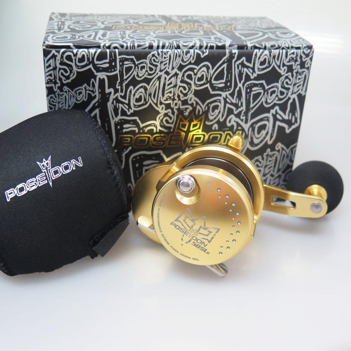 POSEIDON 50SL JIGGING REEL gold GSK HEAVY DUTY 2DAYS FEDEX