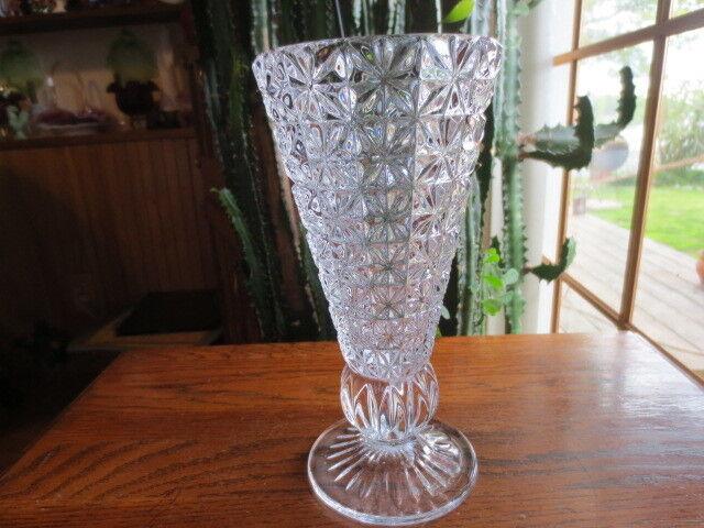 Echtes Bleikristall 8 Inch 24 Lead Crystal Vase Diamond Block