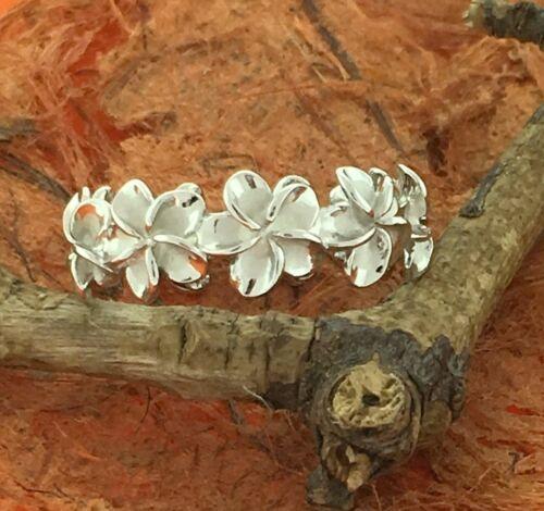 Plumeria Silver Ring Sterling Silver-Cute,Flower,Hawaiian,Girl/'s Jewelry,Lovely