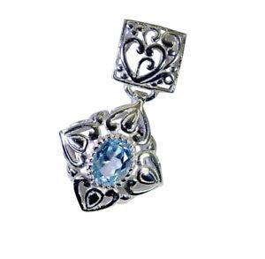 fein-aussehende-Blautopas-925-Sterling-Silber-blau-Anhaenger-Versorgung-de