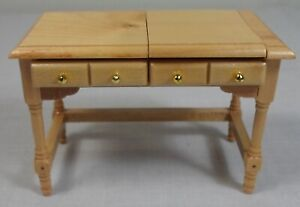 Details about VTG 80\'s DOLLHOUSE WOODEN BEDROOM VANITY DRESSER w/ MIRROR  COLLECTOR\'s DETAILED