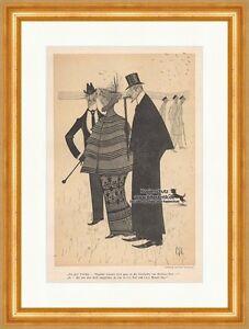 Aktiv Jugend Jugendstil Von Carl Strathmann Hund Zylinder Buridans Esel Jugend 1134 1890-1919, Jugendstil