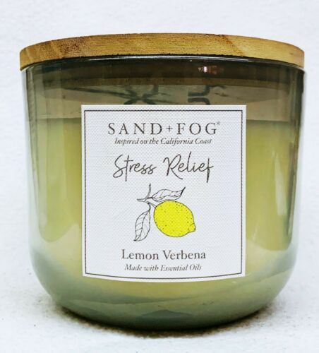 Fog STRESS RELIEF LEMON VERBENA Large Candle 3-Wick Tumbler 25 oz 1 Sand