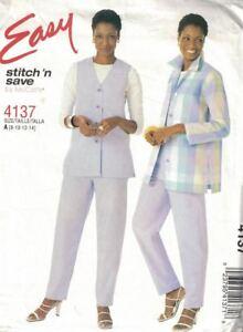 McCall-039-s-Easy-Stitch-amp-Save-4137-Miss-Jacket-Vest-amp-Pants-w-Petite-Option-8-14