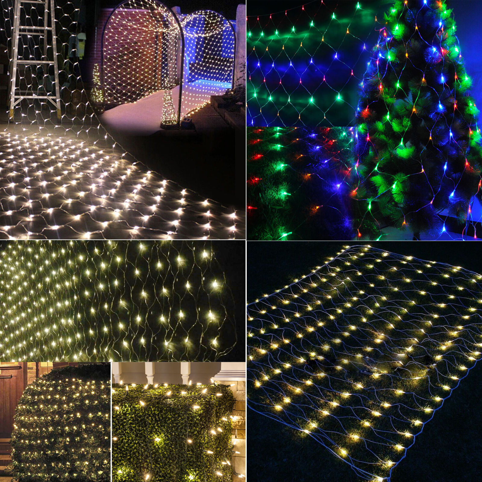 Drape String Lights Ceiling : Christmas Net Lights Fairy String Curtain Mesh Xmas Party Ceiling Lights Decor