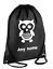 PERSONALISED Drawstring Bag Baby OWL School PE Swim Holiday Kit Sport Girls Boys