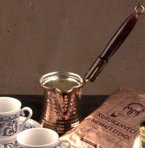 Turkish-Emporium-Copper-Coffee-Pot-Greek-Ibrik-Cezve-Mokkakanne-Large-Size