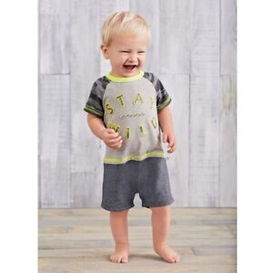 Mud Pie E8 Go Wild Baby Boy Hippo Zipper Mouth Romper One-Piece 1032408 Choose