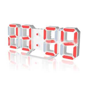LED-USB-Digital-3D-Wall-Desk-Alarm-Clock-White-Snooze-12-24-H-Display-Memory