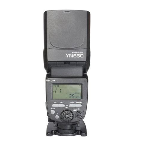 Flash Speedlite Yongnuo YN660 GN66 con un built-in transmisor receptor inalámbrico de 2.4 GHz