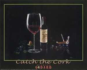 "Michael Godard ""CATCH THE CORK"" Wine-Grape-Vino-Las Vegas-Party-Poster"