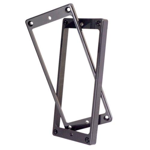 2 schwarze Kunststoff Humbucker Tonabnehmerringe Rahmen Steghals für 8 saitige