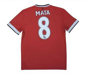 Manchester United 2014-15 Authentic Home Shirt Mata #8 (bene) M SOCCER JERSEY