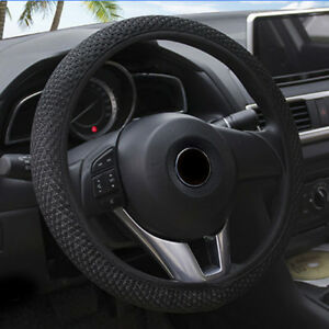 15-039-039-38cm-Black-Car-Steering-Wheel-Cover-Microfiber-Leather-Breathable-Anti-slip