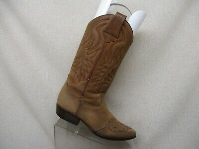 Guess By Georges Marciano Brown Leather Cowboy Fashion Boots Womens Size 6 M | eBay