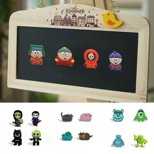 4pcs//set Batman etc Fridge Blackboard Magnet DIY Refrigerator Stickers Xmas Gift