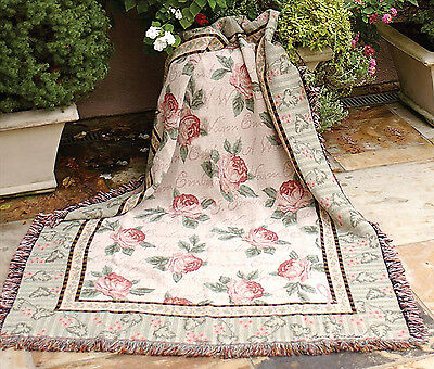 "FLORAL THROW FLOWERS 50/"" X 60/"" /""GARDEN IN BLUE/"" THROW BLANKET THROWS"