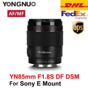 Nuovo obiettivo YONGNUO YN85mm F1.8S DF DSM AF / MF per Sony E-Mount A9 A7RII