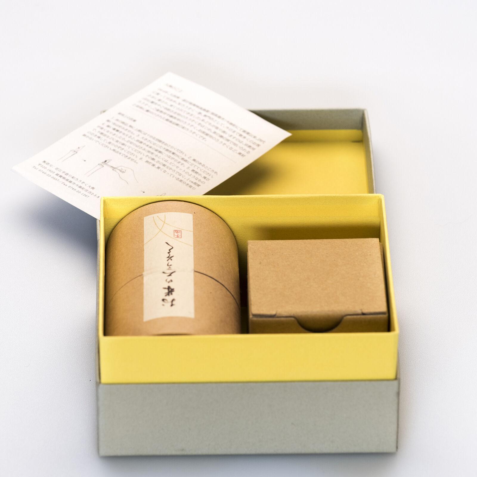A Mano Conjunto De Arroz-cera Velas Geschenk Japonés - 20 PC Y Soporte De Cerámica