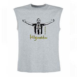 Art-T-shirt-Magletta-Senza-Maniche-Higuain-Uomo-Man-Grigio