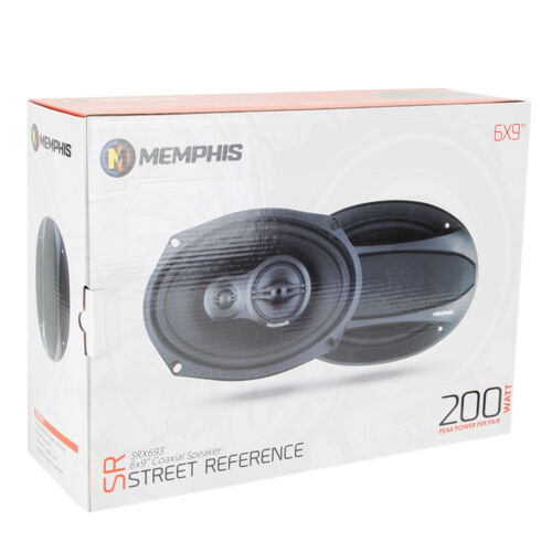 """MEMPHIS AUDIO SRX693 STREET REFERENCE-SERIES 200W 6/""""x9/"""" 3-WAY COAXIAL SPEAKERS"""