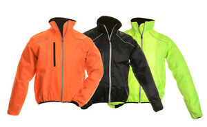 New-Hivis-Mens-Cycling-Waterproof-Windstopper-Full-Sleeve-Zip-Jacket-Reflective