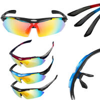 Sports Cycling Bike Bicycle Sunglasses UV400 Goggles Glasses Eyewear with 5 Lens