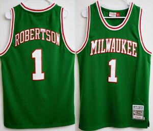 f10f51c241f ... Image is loading Oscar-Robertson-1-Milwaukee-Bucks-Throwback-Swingman  Celebrate your Milwaukee Bucks fandom with this Mens Adidas ...