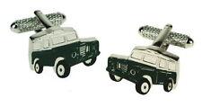 Green Land Rover Design Jeep Cufflinks in Gift Box Onyx Art London CK562