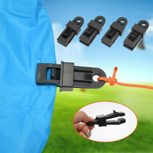 10pc Tarp Clips Clamp Awning Set Car Boat Cover Tent Tie Down Emergency Snap