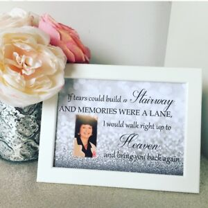 Personalised Memorial Remembrance Keepsake Your Photo Stairway To