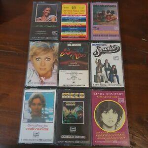 Bulk-Lot-9-Cassette-Tapes-Pop-Olivia-Newton-John-Smokie-Neil-Diamond-70-039-s-Hits