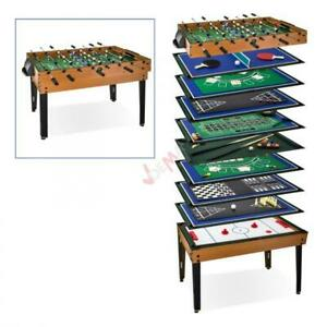 ff2fc744fe140 Table multi-jeux 15 jeux en 1 - baby foot - billard - tennis table ...