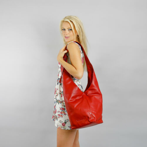 Lipstick Red Boulevard Montmartre Large Leather Handbag//Shoulder bag