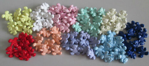 6 TEDDY BEAR BUTTONS LOTS OF COLOURS TO CHOOSE FROM