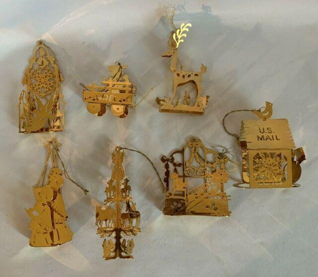Franklin Mint Christmas Tree Ornaments Set Of 7   eBay