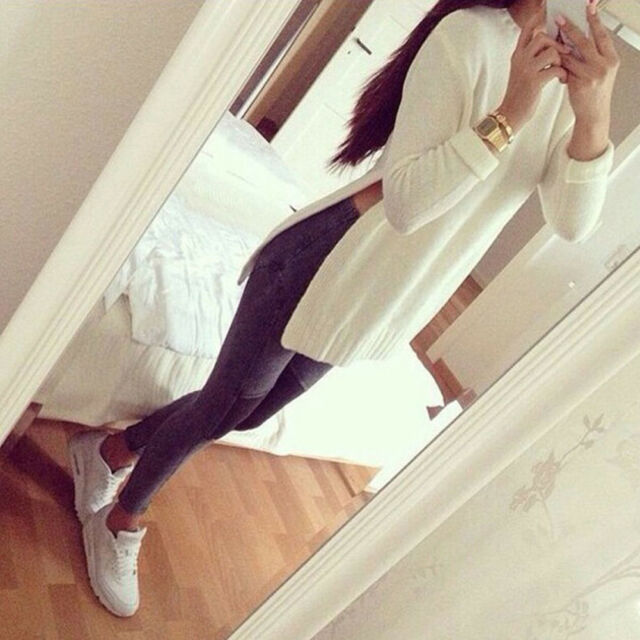 Women Sweater Pullover Long Sleeve Casual Loose Knit Tops Autumn Winter Sweater