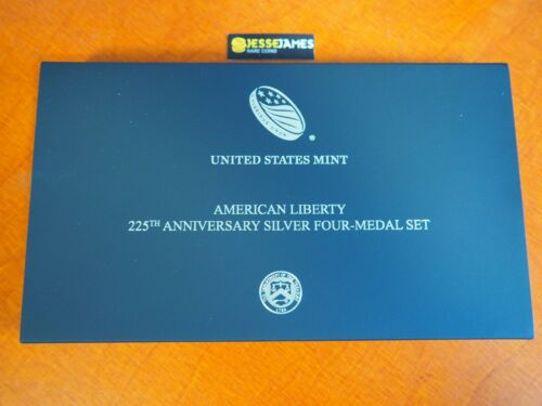 2017 AMERICAN LIBERTY PROOF SILVER MEDAL 4 COIN SET 225TH ANNIVERSARY W P S D