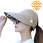 Sun-Hats-For-Women-Adjustable-Summer-UV-Protection-Wide-Brim-Foldable-Mesh-Caps thumbnail 1