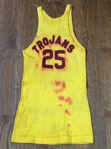 Vintage Antique 1920-30s Usc Trojans Basketball Uniforme Maillot Southern Cal