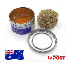 Soldering-Solder-Iron-Tip-Cleaner-Clean-Copper-Wire-Sponge-Set-Box-Ball-Metal-AU