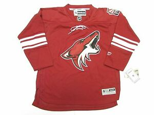 Image is loading PHOENIX-COYOTES-REEBOK-HOME-HOCKEY-JERSEY-YOUTH-SIZE- aef064250