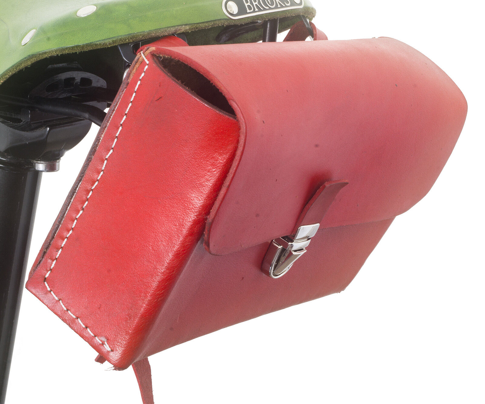 Leather Saddle Bag For  Bike SCARLET RED Limited Edition by London Craftwork L08  wholesale cheap and high quality