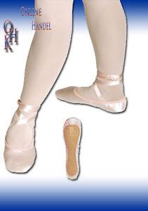 1014# Ballettschläppchen, Satin breite Passform Gr.27 bis 39