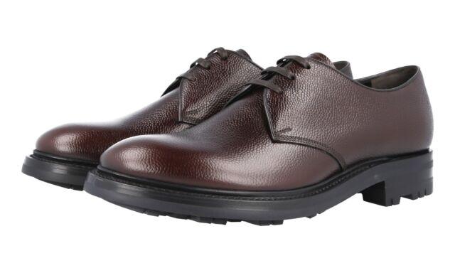 3bba89eefc59 Buy Authentic Luxury PRADA Lace-up Shoes Derby 2EE228 Brown US 6.5 ...